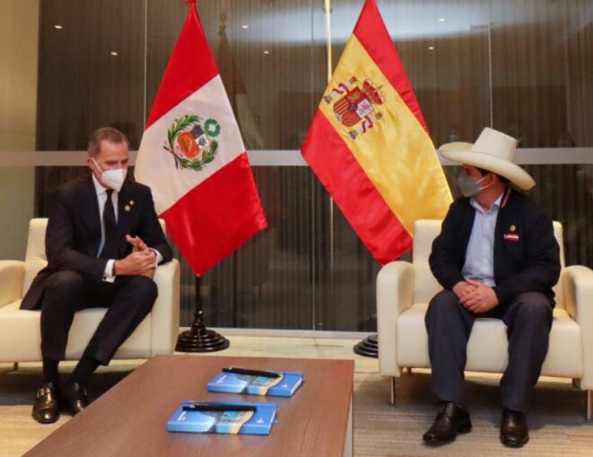 Castillo se reúne con rey de España, enviado de Biden y presidente Lasso