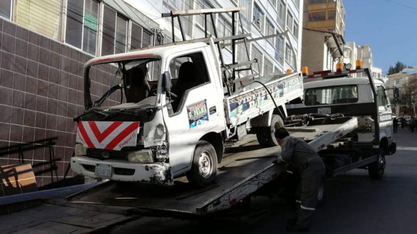 Fallece una persona por accidente de tránsito la calle J.J. Pérez de La Paz
