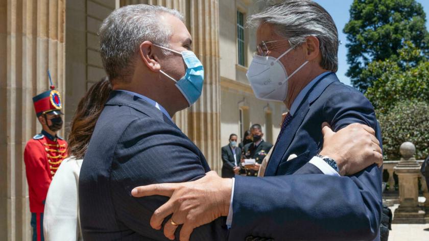 """Presidente Duque dice que nuevo eje binacional con Ecuador ayudará a """"eliminar el narcotráfico"""""""