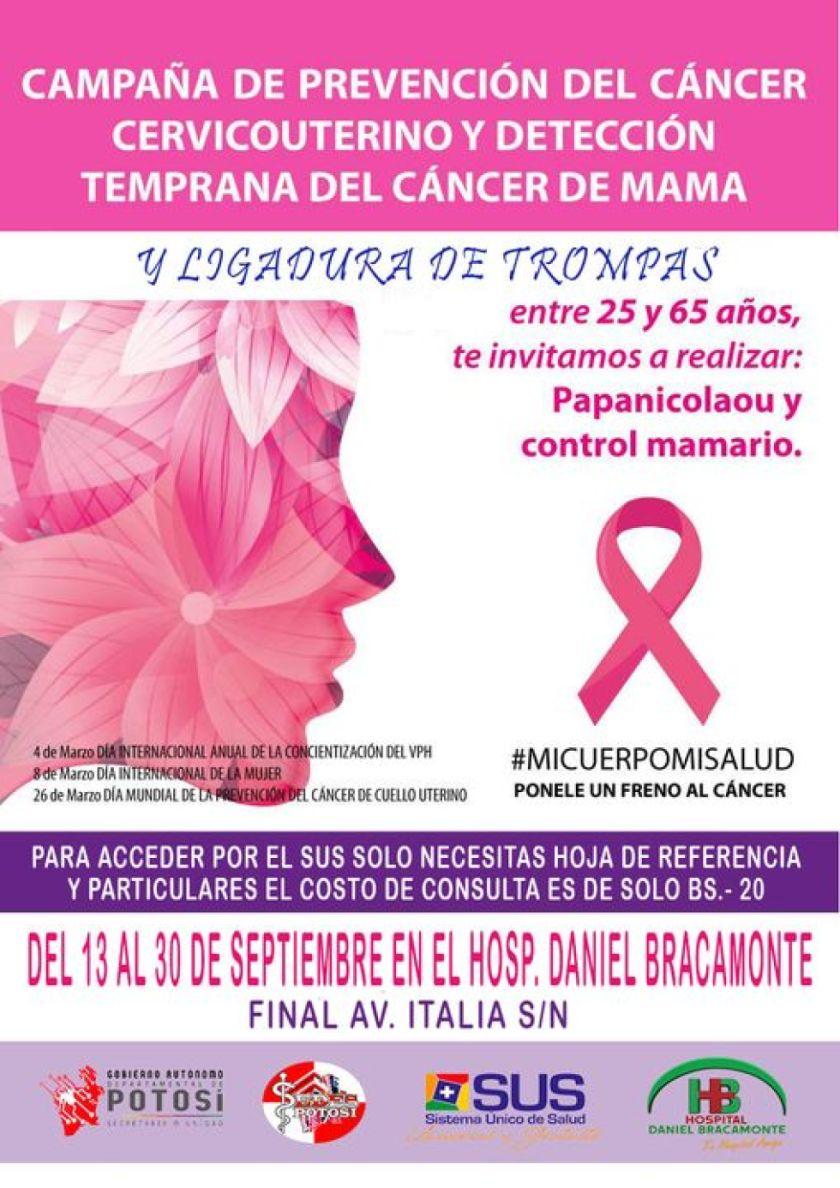 Campaña de prevención de cáncer es hasta fin de mes