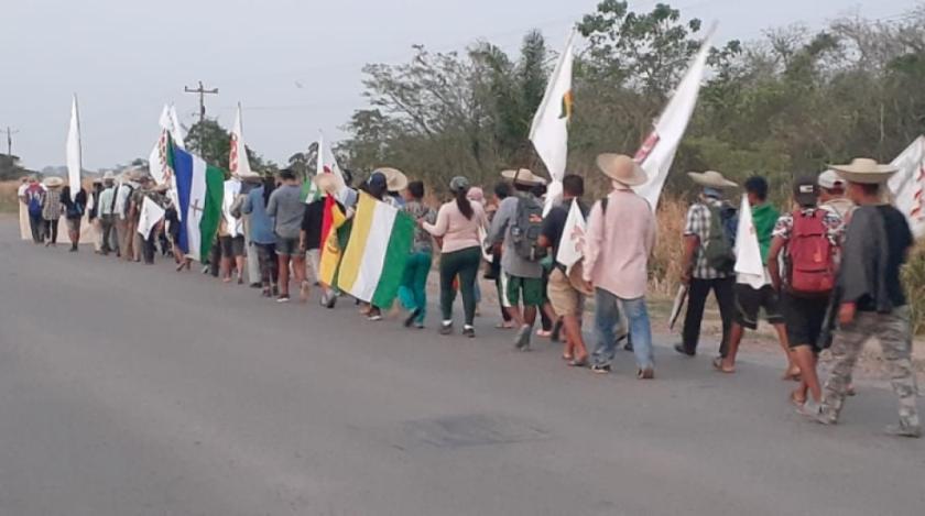 Arce llegará a San Julián este lunes y la marcha suspendió su paso por falta de seguridad