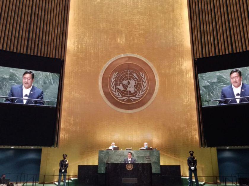 Arce pide la liberación de las patentes, reivindica la salida al mar de Bolivia y habla de la crisis de 2019