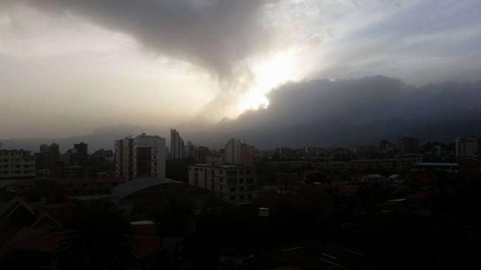 En Cochabamba hubo vientos y lluvia desde la mañana.