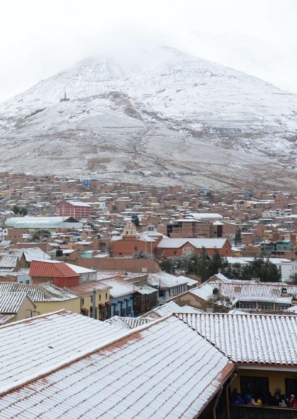 La nieve cayó en once municipios potosinos