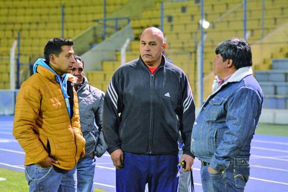 De izq. a der. Daniel Ordóñez, Richard Preza y Rodolfo Mamani.