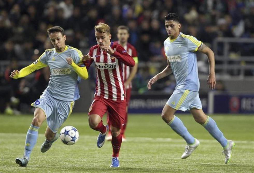 Atlético de Madrid se estanca en su visita ante el Astana