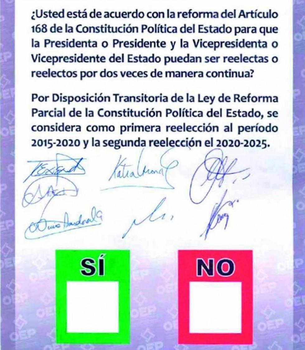 TSE define papeleta para el referendo