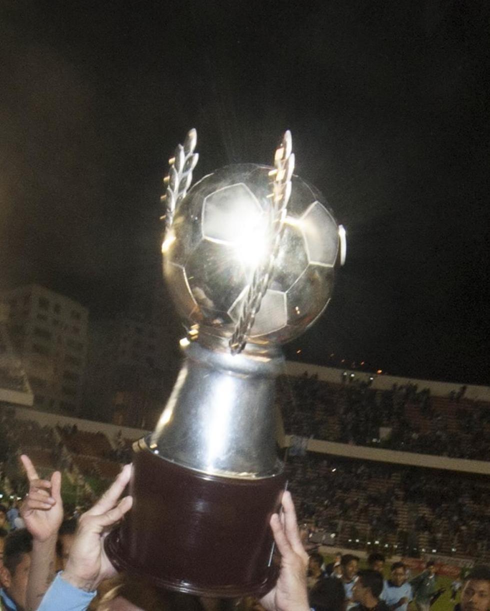 El trofeo que entregó la Liga el pasado campeonato.