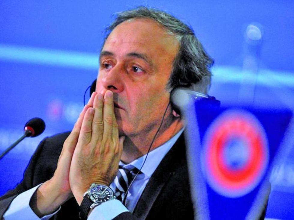 El expresidente de la UEFA, el francés Michel Platini.