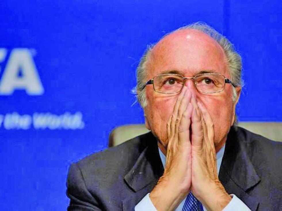 El expresidente de la FIFA, el suizo Joseph Blatter.