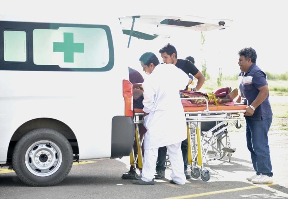 Los  pasajeros fueron atropellados por una flota que iba hacia La Paz.