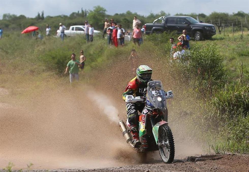 El boliviano Juan Carlos Salvatierra del equipo KTM.