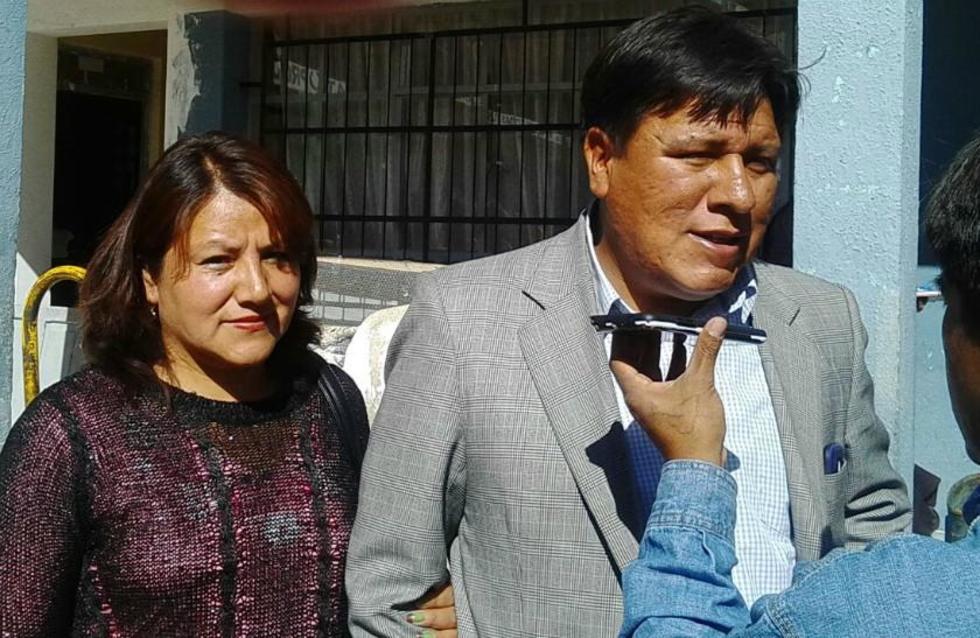 El alcalde Williams Cervantes y su esposa, Patricia López.