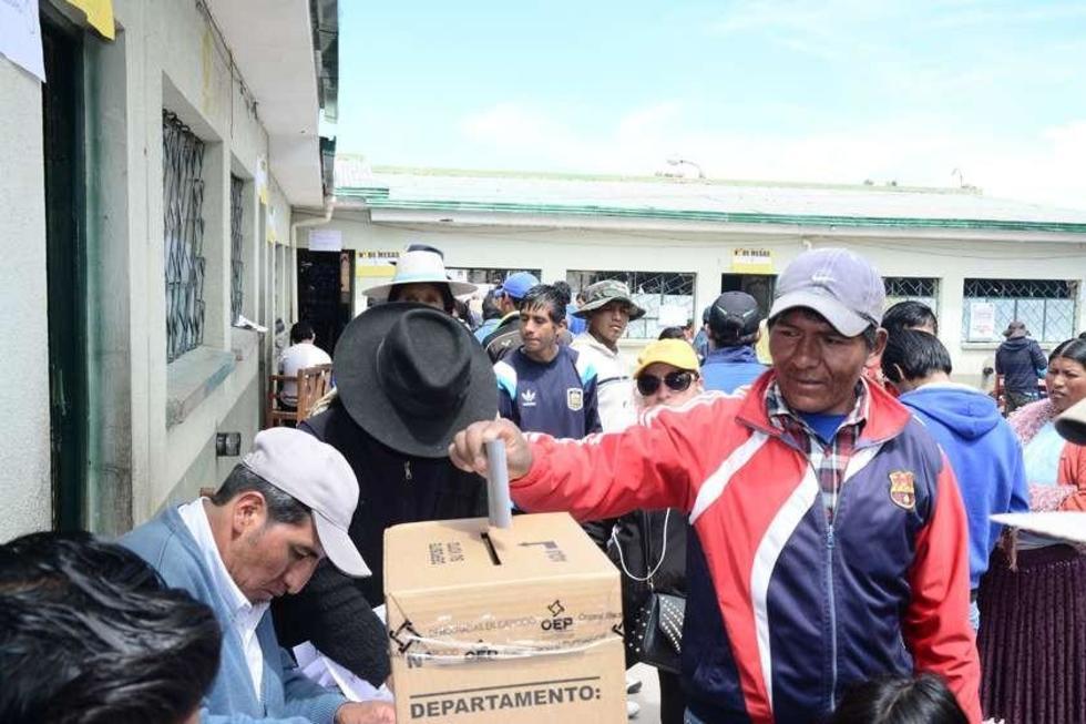 La última consulta democrática en la ciudad de Potosí.