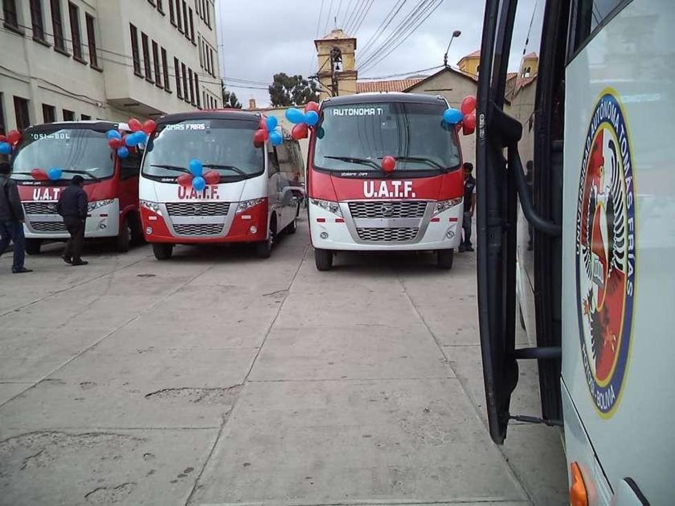 Los buses trabajarían solo para el uso de los alumnos de esta universidad.
