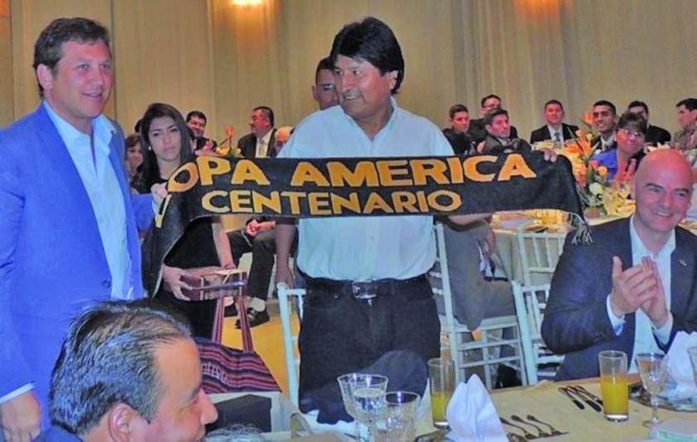 Morales irá a la inauguración de la Copa América