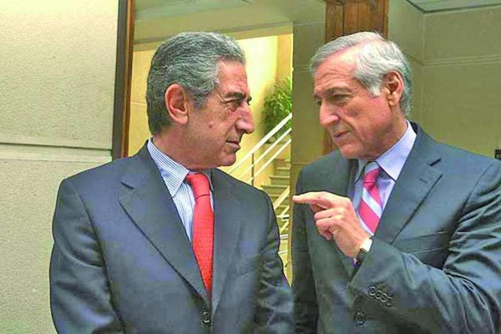 El senador Jorge Tarud y el canciller Heraldo Muñoz.