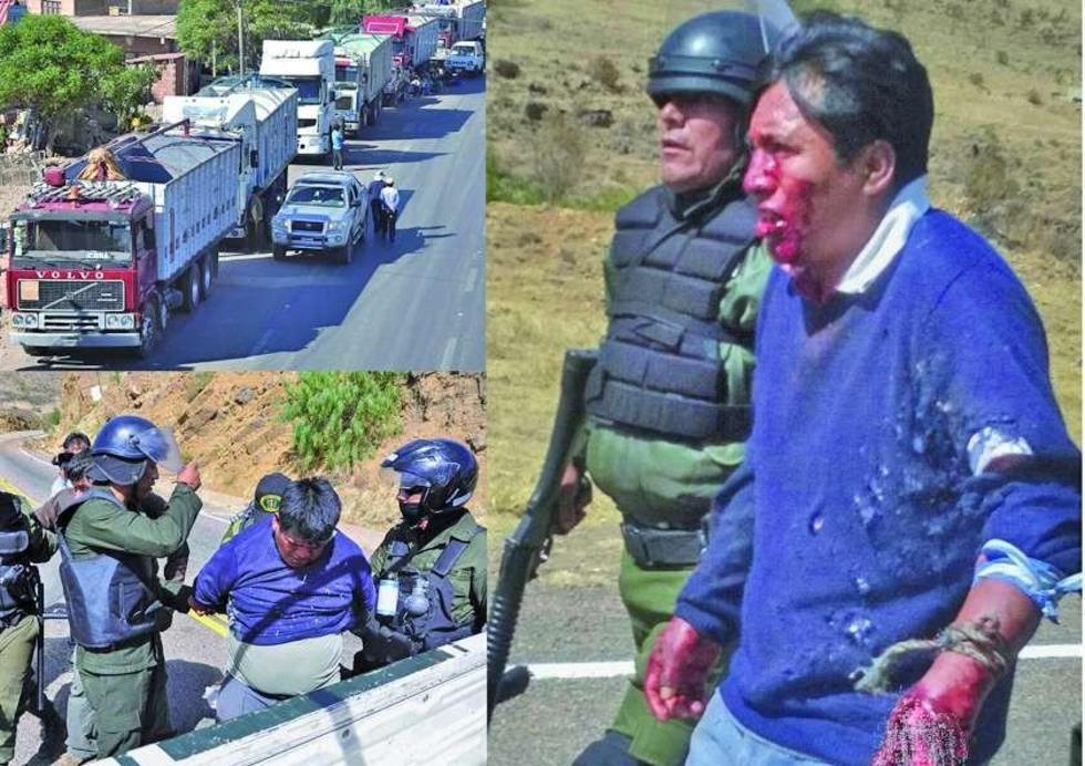 Los camioneros exigen la liberación de, al menos, 22 transportistas que fueron aprehendidos.