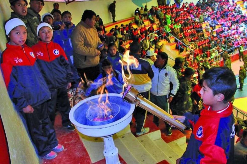 Avanzan los juegos deportivos de primaria en Potosí