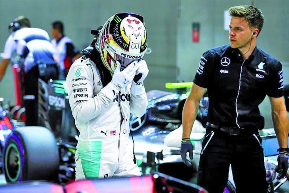 "Hamilton: ""fue un fin de semana complicado"""