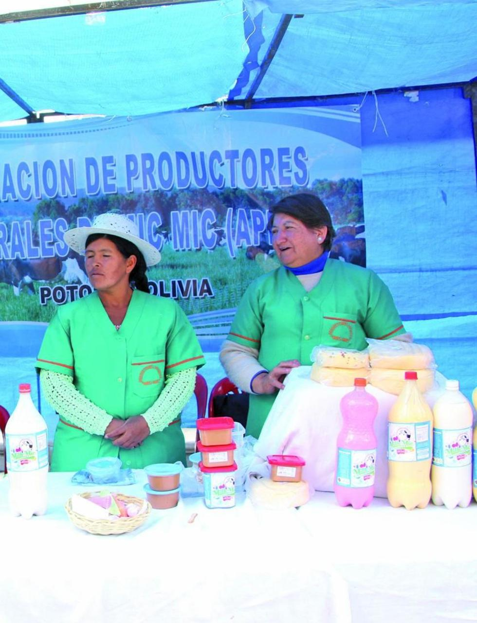 Los productos lacteos de la feria.