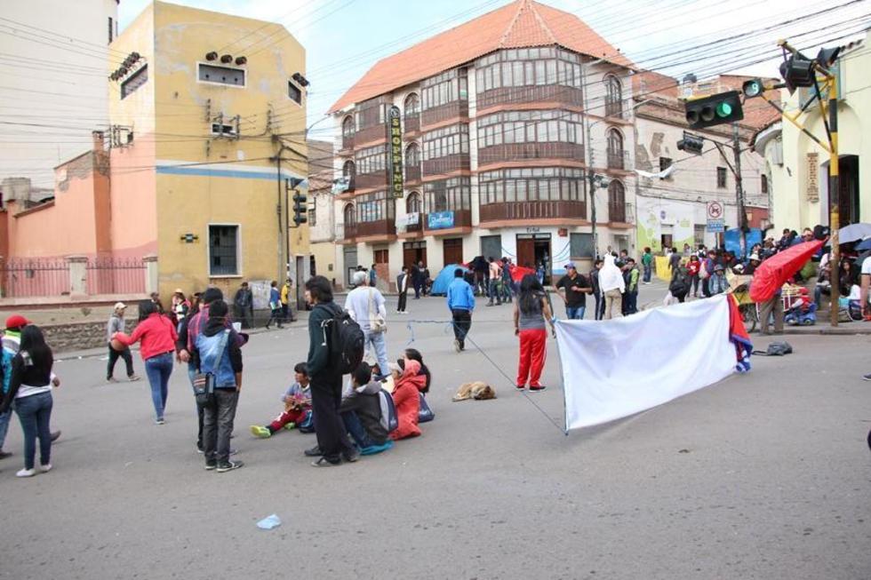 La paralización de actividades se produjo en la ciudad de Potosí.