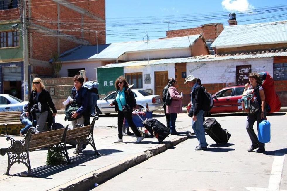 Los turistas fueron afectados por el paro de actividades.