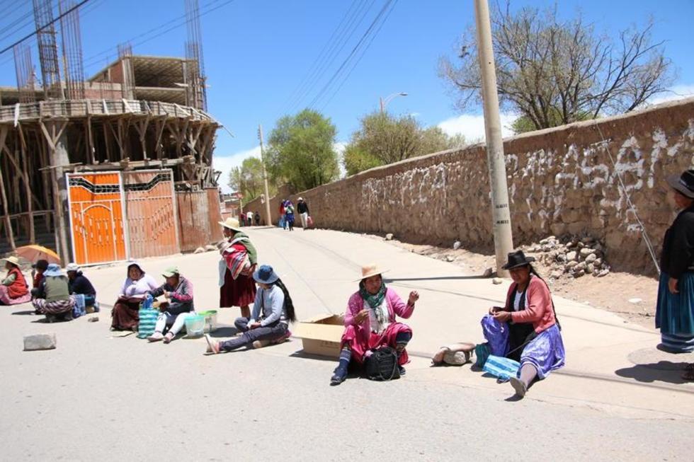 Las mujeres participaron activamente en el paro de actividades por 24 horas.
