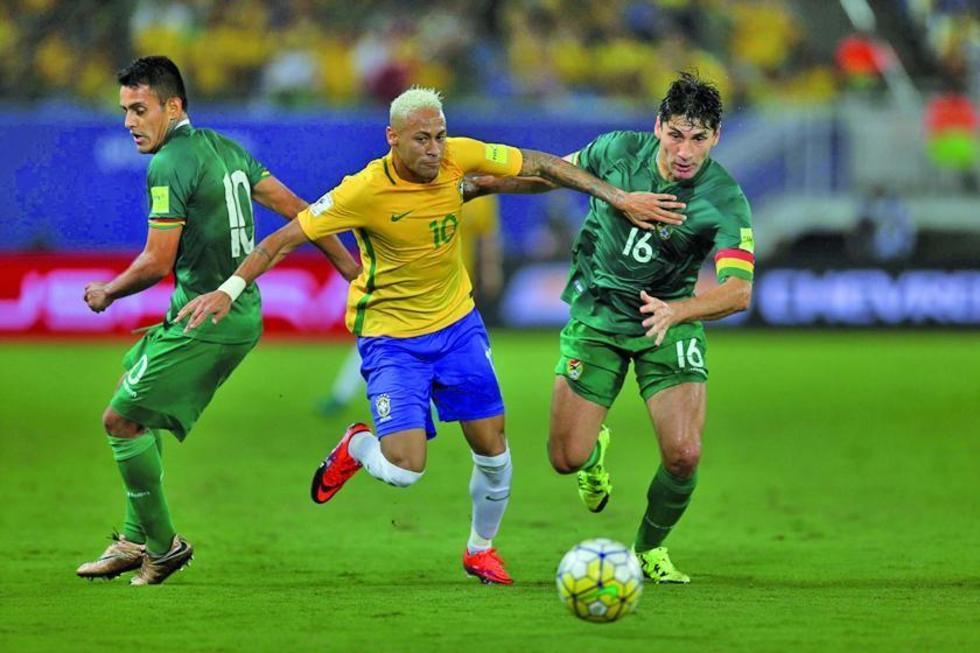 """Bolivia no pudo parar el """"jogo"""" bonito de Brasil"""