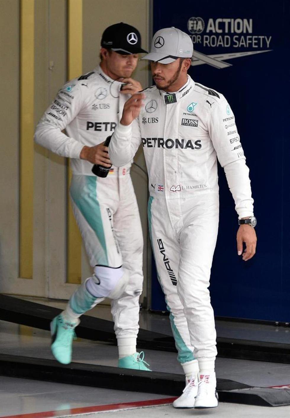 """Hamilton: """"trataré de ponerme por delante"""""""