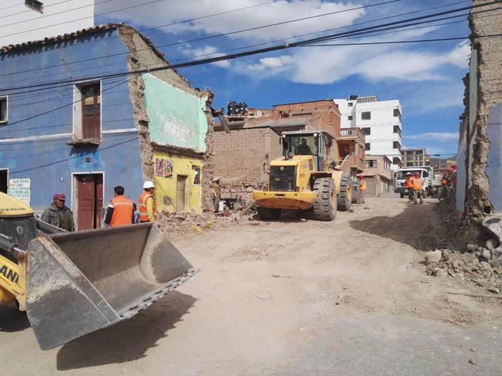 Así quedó la nueva calle aperturada luego de la demolición.