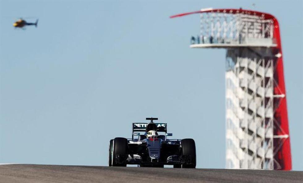 El monoplaza de la escudería Mercedes que maneja Hamilton.