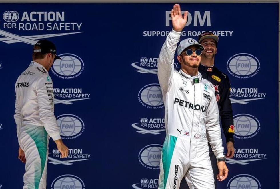 El piloto británico de Fórmula Uno Lewis Hamilton.