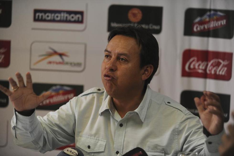 El tesorero de la Federación Boliviana de Fútbol (FBF), Cliver Rocha.