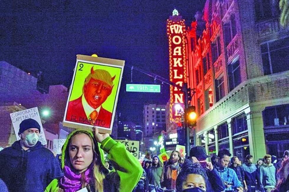 Las protestas contra el candidato electo continuaron hasta la madrugada de ayer en varias ciudades que rechazan que sea