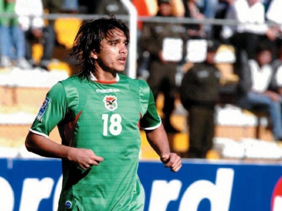El delantero boliviano