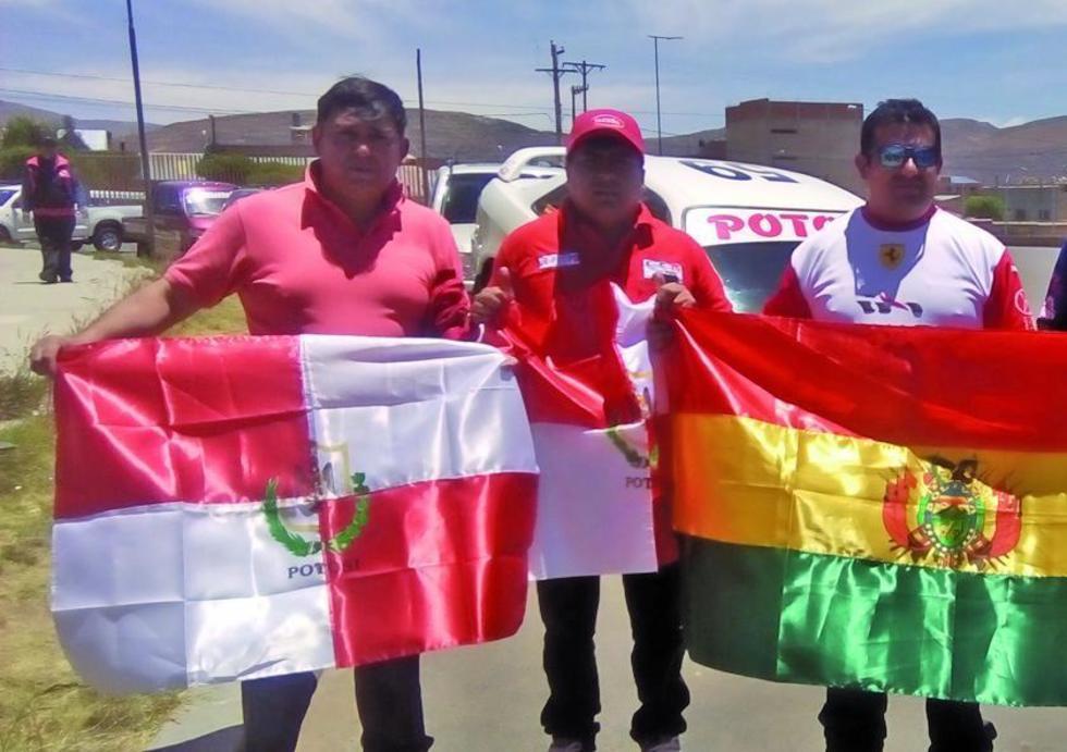 De izq. a der. José Borda, Luis Tarqui e Israel Sandoval.
