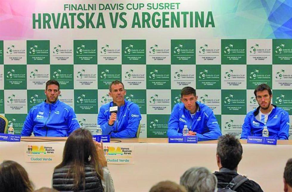 Del Potro busca el título de la Copa Davis