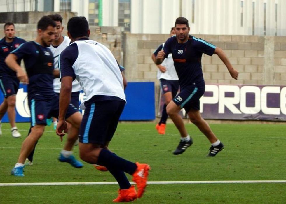 Los jugadores de Chapecoense, en plena práctica.