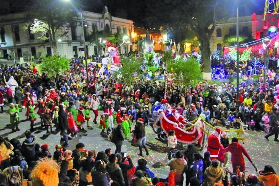 Potosí vive la fiesta de la Navidad con alegría