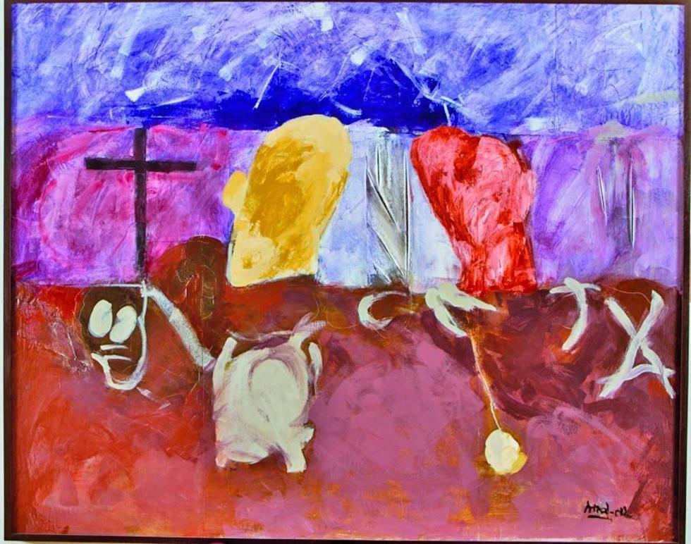 La pintura del artista Enrique Arnal.