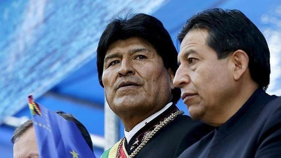 Choquehuanca, en su discurso, le manifestó al presidente que personalmente volvería a trabajar a las bases (...) para fo