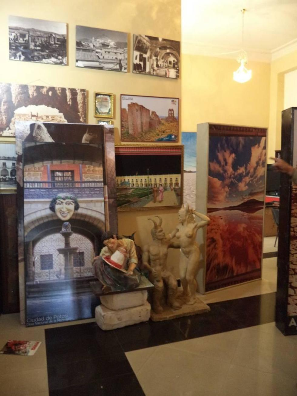 Algunos objetos que serán exhibidos.