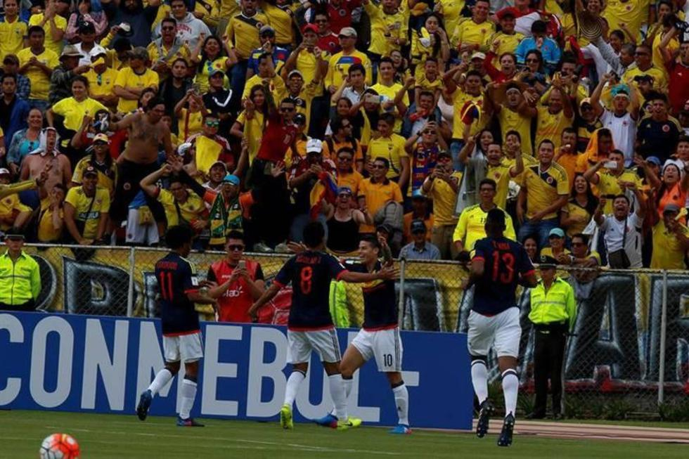 Colombia vence a Ecuador y se acerca a Rusia
