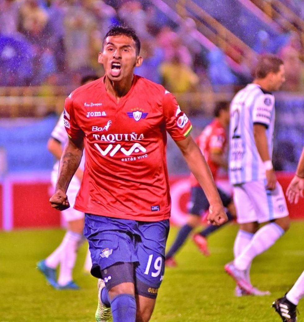 Gilbert Álvarez festeja el gol del empate.