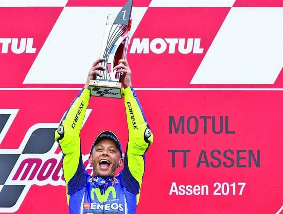 Rossi se reencuentra con la victoria en Assen