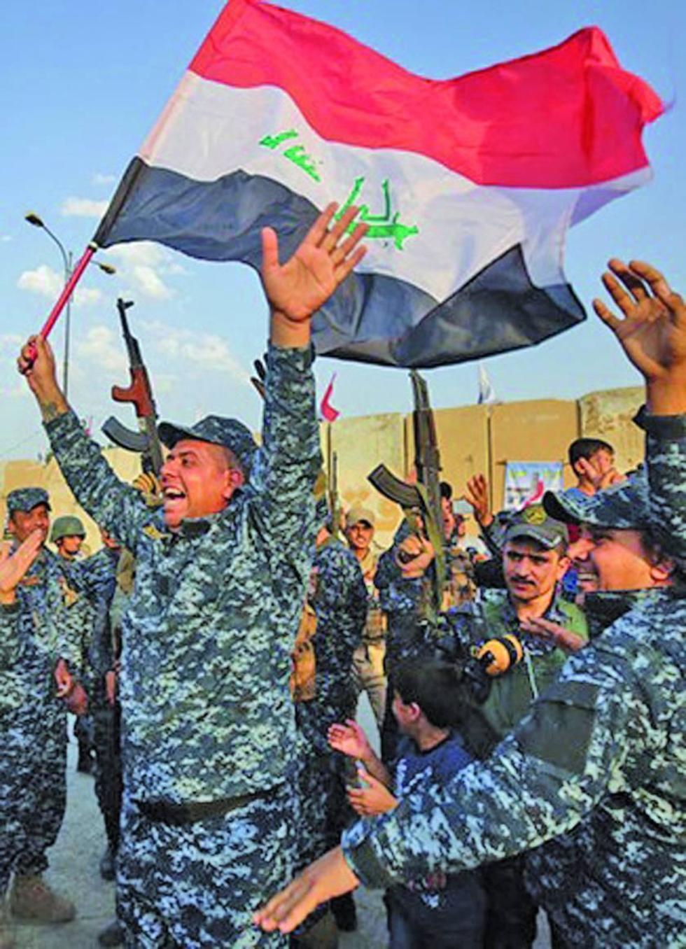 Irak festeja su victoria  frente a los terroristas en la ciudad de Mosul