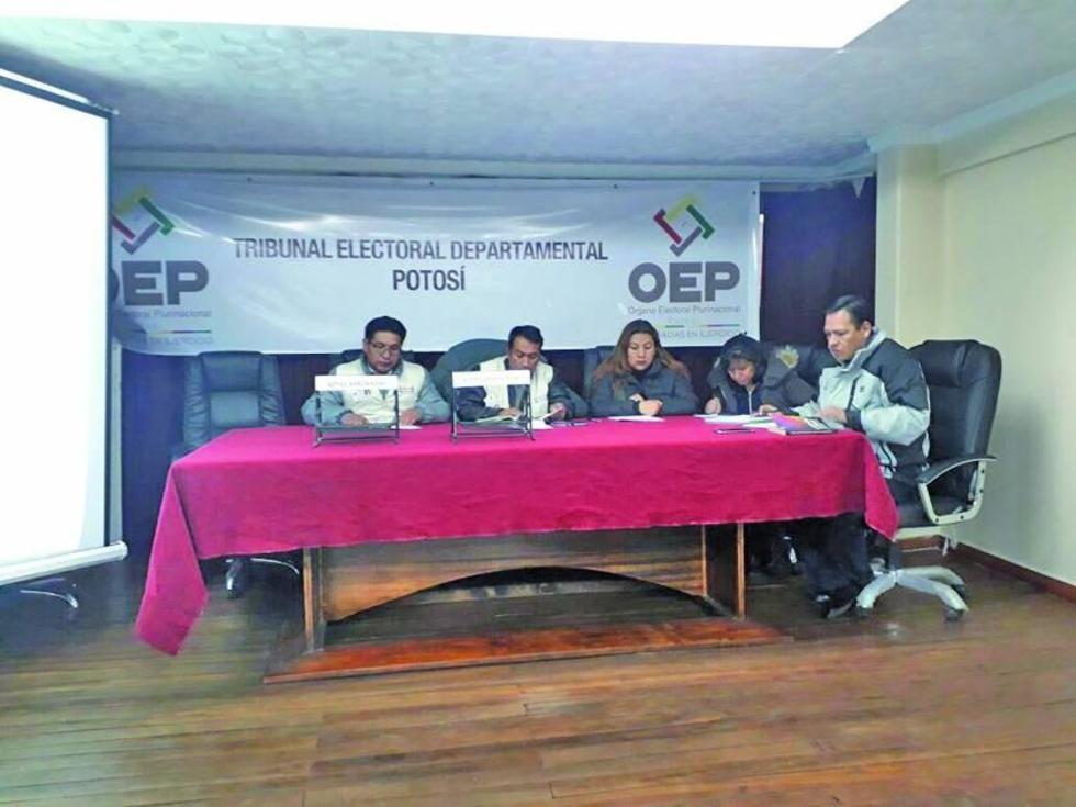 El Tribunal Electoral Departamental consolidó el resultado final.