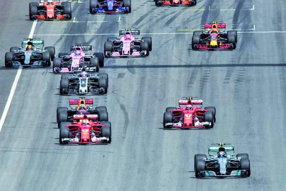 """Los competidores en el circuito """"Red Bull Ring""""."""