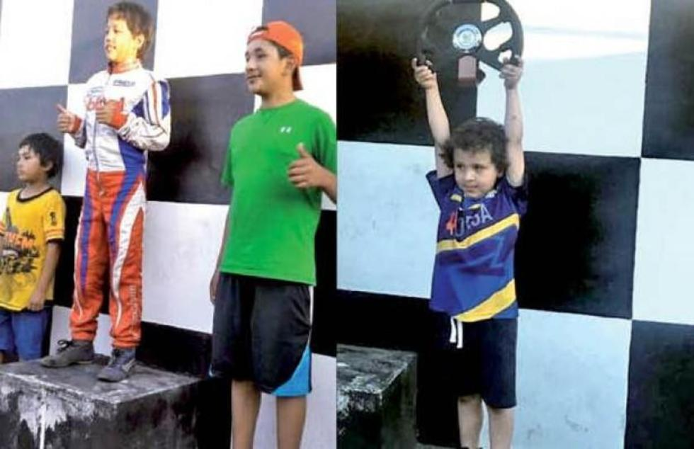 Potosinos ganan podio en prueba nacional de karting